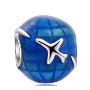Linx Airplane Globe Around the World Charm